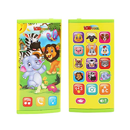 - Looboo Kids Education Smartphone -Multi-Function Puzzle Story Machine with Music Sound and Light Toddlers Touch Screen Electronic Learning Toy