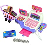 large calculator cash register - Delight eShop Creative Kid Toy Pretend Play Supermarket Cash Register Scanner Checkout Counter