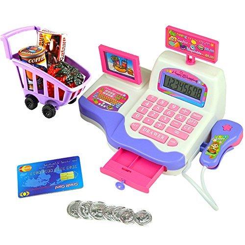 ve Kid Toy Pretend Play Supermarket Cash Register Scanner Checkout Counter ()