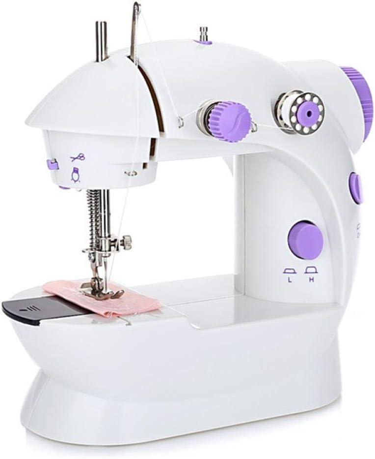 Ringdoors Máquina De Coser - Mini Máquina De Coser Eléctrica Iluminada,Costura Automática, Display Multifunción,Principiantes y Personas Que Les Gusta Crear