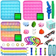 27 Pack Fidget Toys Set, Relieves Stress and Anxiety Fidget Toy, Stress Relief Fidget Hand Toys for Kids Girls