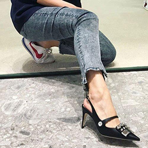Firm Zapatos Jia fino para tac Pin Ren de Zapatos de de Chang Sandalias mujer vestir verano Rhinestone Shi 6gnIXg1q