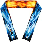 why are frogs wet - KOOLGATOR Cooling Neck Wrap - Flames:Blue & Red Design