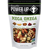 Power Up Trail Mix, Mega Omega Trail Mix, Non-GMO, Vegan, Gluten Free, No Artificial Ingredients, Gourmet Nut, 14 Ounce Bag