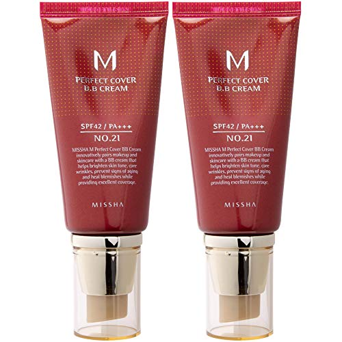 Missha M Perfect Cover Bb Cream SPF 42 Pa Plus # 21, Light Beige - Bb Cover Perfect Cream