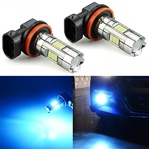 Blue Lights Ice Mini (JDM ASTAR 3200 Lumens Extremely Bright 3030 Chipsets H11 H8 LED Fog Light Bulbs for DRL or Fog Lights, Ice Blue)