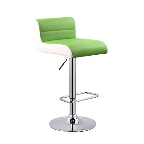 Amazon.com: WBBDZ Bar Stool with Backrest Adjustable Height ...