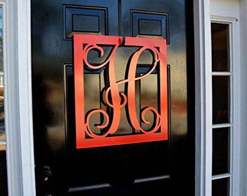 Metal Monogram Letter, Monogram Wreath, Door Hanger Monogram, Metal Monogram Letter, Oval Monogramed Wreath, Wall Art