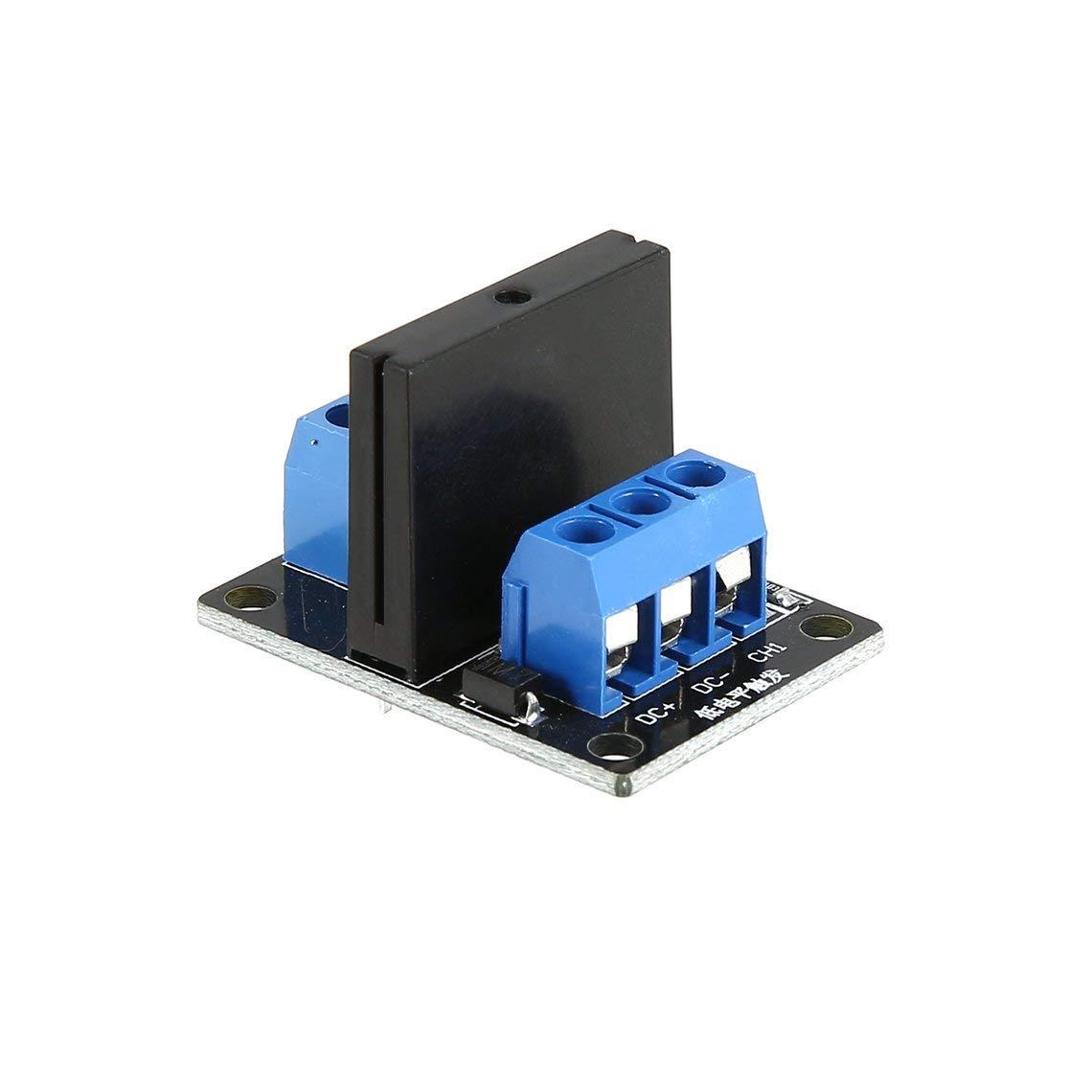 Placa de m/ódulo de rel/é de estado s/ólido de 1 v/ía DC 5V de bajo nivel SSR para Arduino