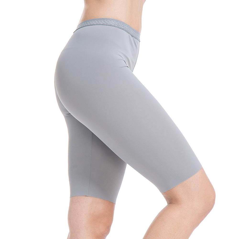 MANCYFIT Slip Shorts for Women Smooth Short Leggings Half Mid Thigh Legging Sleek Undershorts