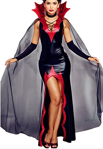 [Aimur Halloween Costume The Fire Queen Bodysuits Maxi Dresses for Adult Women] (Dark Knight Rises Catwoman Costume Material)