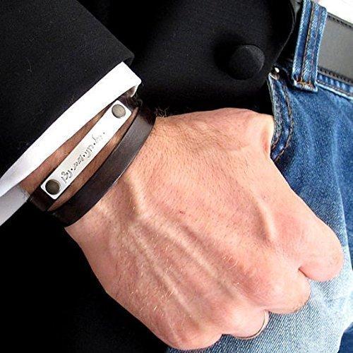 16cbf220069a3 Amazon.com: Double Wrap Bracelet - Leather Wrap Bracelet - Custom ...