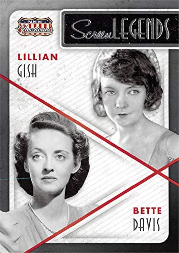 - Bette Davis & Lillian Gish trading card (Actresses) 2015 Panini Americana Screen Legends insert #8