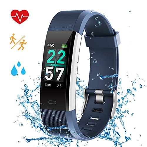 Fitness Tracker Watch Color Screen - 2019 Upgraded IP68 Activity Tracker Watch Waterproof for Women with Heart Rate Monitor, Step Counter, Calorie Counter, Pedometer with 14 Sports Modes for Kids Men