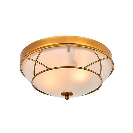 Loclgpm 2 Light Glass Titanium Gold Finish Semi Flush Mount Ceiling Light Vintage Ceiling Fixture For Bedroom Hallway Kitchen Bar