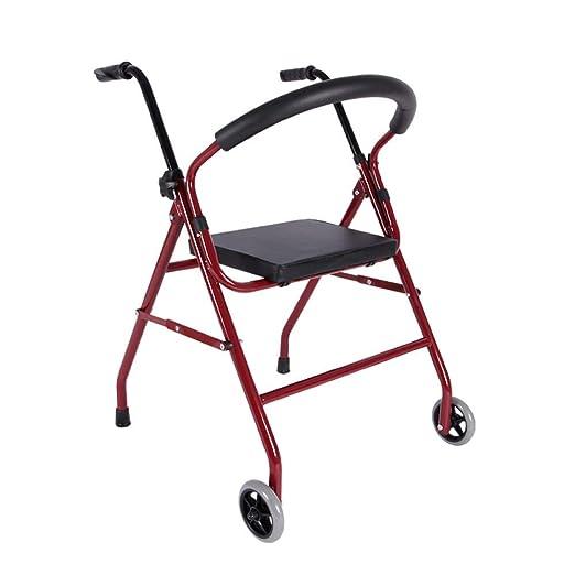 Folding Walker YX Andador Plegable, con Asientos y Ruedas Handicap ...