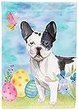 Caroline's Treasures BB9617GF Black White French Bulldog Easter Decorative Garden Flag, Multicolor For Sale