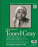 """Strathmore 400 Series Toned Gray Sketch Pad, 5.5""""x8.5"""" Wire Bound, 50 Sheets"""