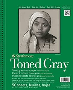 "Strathmore 400 Series Toned Gray Sketch Pad, 11""x14"" Wire Bound, 24 Sheets"
