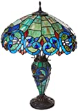 Chloe Lighting CH18648T-DT3 Tiffany-Style 3 Light Double Lit Table Lamp Shade - 18
