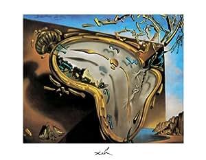 11 x 14 Póster con diseño de Salvador Dalí - suave reloj