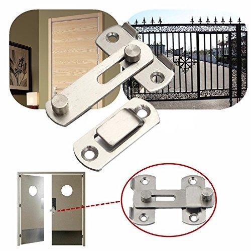 Stainless Steel Home Safety Gate Door Bolt Latch Slide Lock Hardware+4xScrew Set