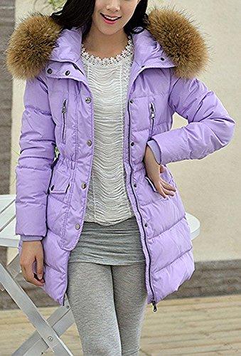 Parka Femme Doudoune Violet Bininbox® À Duvet Capuchon Fourrure Hiver Manteau De R8qZT