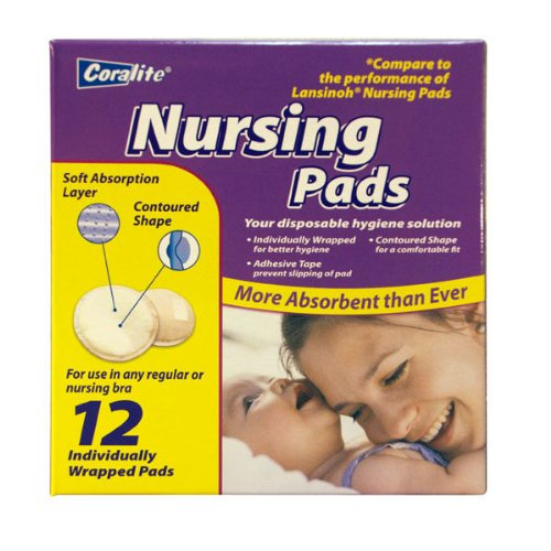 Nursing Pads - 12 pc,(Coralite) by Coralite