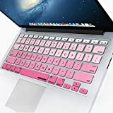 Apple Macbook Mf840ll A Best Deals - iBenzer Basic Macaron Series Keyboard Cover Silicone Rubber Skin for Macbook Pro 13