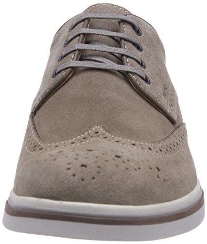 Geox U MANUEL E - Zapato brogue de cuero hombre gris - Grau (DOVE GREYC1018)
