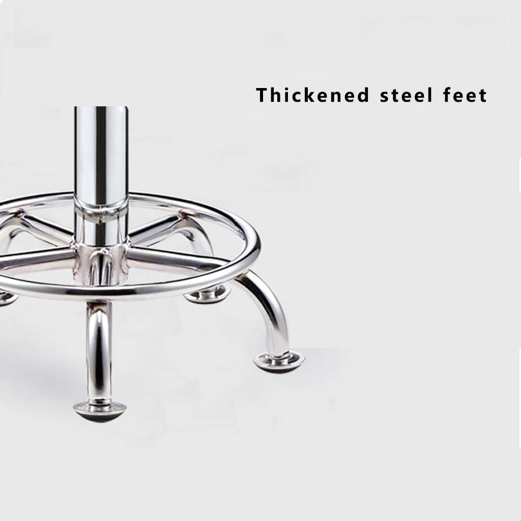 RIRI Rotating stool, stool with wheels, used in barber shops, beauty salons, coffee shops, restaurants, (with wheels) Brown