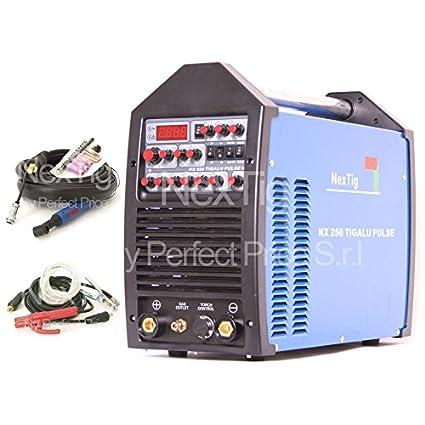 Soldador inverter TIG Wig AC/DC Puls nextig NX 250 TIG Alu Puls + Spot