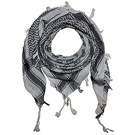 2a5b67699b9 FREAK SCENE® Foulard palestinien keffieh en coton - motifs smiley - 100 x  100 cm - blanc motif noir  Amazon.fr  Vêtements et accessoires