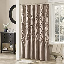 Madison Park Laurel Polyester Shower Curtain Color: Mushroom Taupe