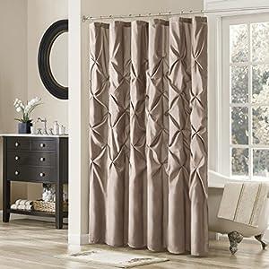 Madison Park Laurel Polyester Shower Curtain Color: Mushroom Taupe