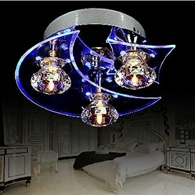 LED Modern Crystal 20W Ceiling Light Pendant 3Lamp Fixture Lighting Chandelier