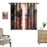 Bedroom Curtains Blackout Draperies Panel Curtains for Living Room/Bedroom Pa T Moul Rouge