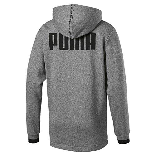 Puma Heather medium Hoody Sweat shirts Rebel Gray Homme Fz Block Gris Fl rCqzpwrP