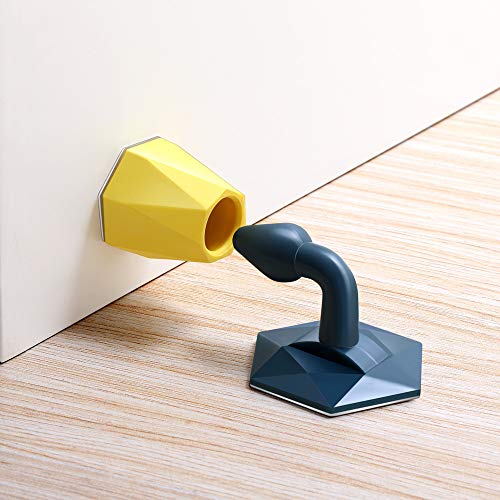 Silicone Punch-Free Door Stopper, Door Wedge Stop Bumper, Behind The Door, Bathroom Bedroom Door Anti-Collision