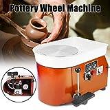 Pottery Wheel 25cm Electric Pottery Forming Machine 350W Electric Pottery Wheel DIY Clay Tool with Tray for Ceramic Work Ceramics Clay Art Craft (25cm) (Orange)