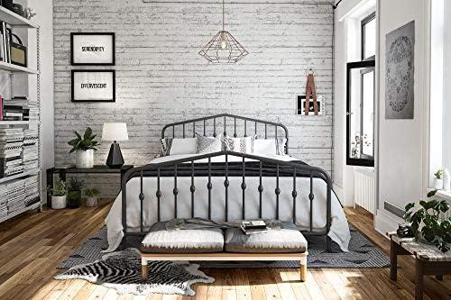 picture of Novogratz Bushwick Metal Bed, Queen, Grey