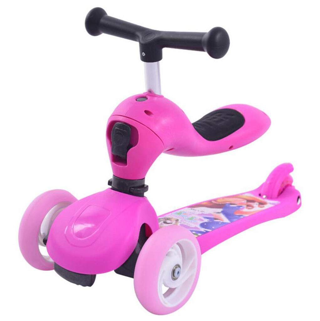 Children's scooter kick scooter children's kids 3 wheel scooter, 3 in 1 super wide wheel kids scooter with detachable seat, adjustable height handle, scooter children boys and girls 1 or more children by JBHURF (Image #1)