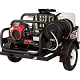 NorthStar Hot Water Pressure Washer - 4000 PSI, 4.0 GPM, Honda Engine, Trailer Mounted