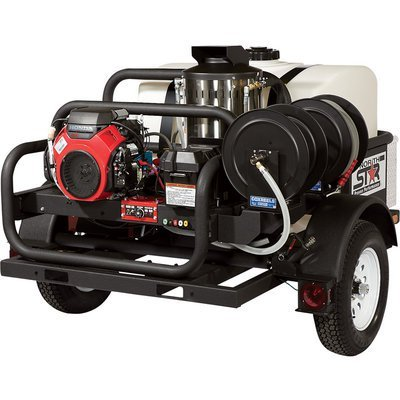 - NorthStar Hot Water Pressure Washer - 4000 PSI, 4.0 GPM, Honda Engine, Trailer Mounted by NorthStar