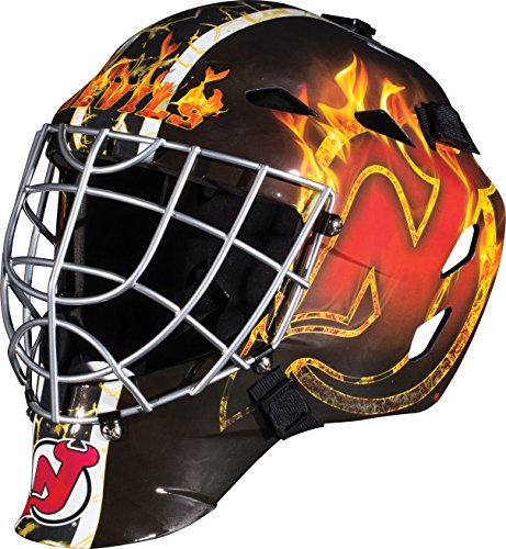 - Franklin Sports New Jersey Devils Goalie Mask - Team Graphic Goalie Face Mask - GFM1500 Only for Ball & Street - NHL Official Licensed Product