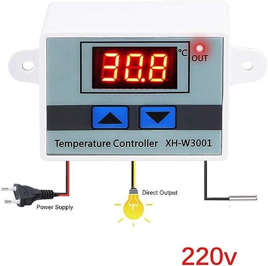 TiooDre Termostato Digital Calefacci/ón del termostato de enfriamiento con sonda NTC