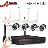 ANRAN 4 Channels 720P WIFI NVR Security System with 4 Outdoor 720P Wireless Network IP CCTV Security Camera Video Surveillance System Plug&Play No Hard Drive Review