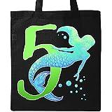 Inktastic - Fifth Birthday Mermaid Tote Bag Black 2eff2