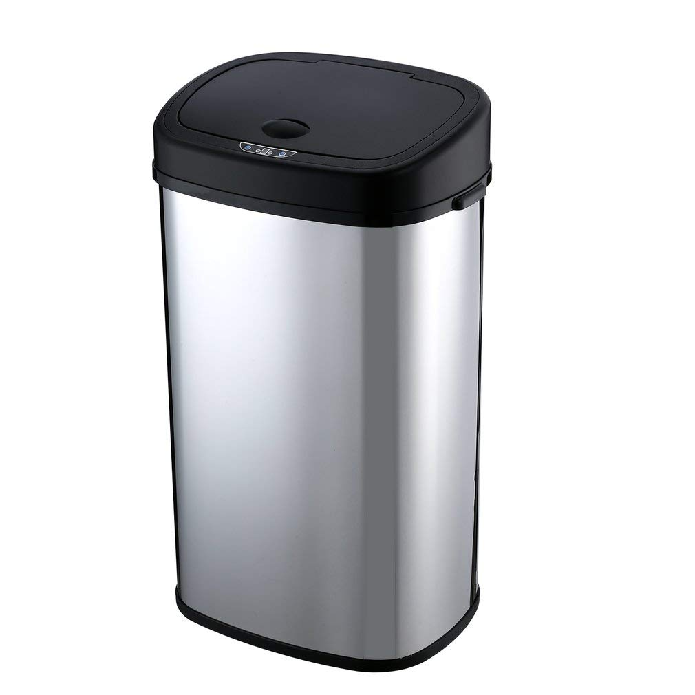 Homgrace Automatic Sensor Trash Can, Bedroom Bathroom Kitchen Trash Can  Garbage Bin Touch Free High-Capacity Touchless Garbage Can 13/15/18 Gallon  ...