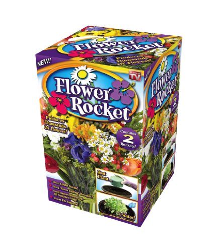 Hummingbird Garden Kit (Flower Rocket Seed Disc - Concentrated Flower Planting Gardener Indoor Outdoor Kit - Roll Out Flowers - by Garden Innovations)
